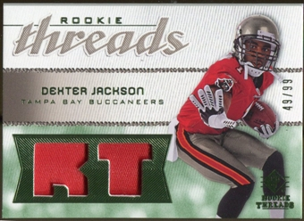 2008 Upper Deck SP Rookie Threads Rookie Threads Patch #RTDX Dexter Jackson /99