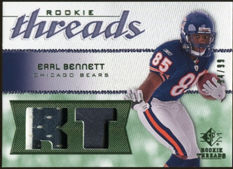 2008 Upper Deck SP Rookie Threads Rookie Threads Patch #RTEB Earl Bennett /99