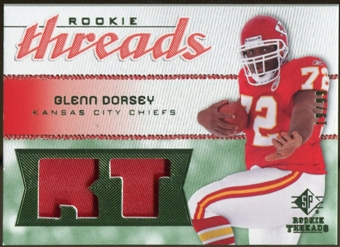 2008 Upper Deck SP Rookie Threads Rookie Threads Patch 99 #RTGD Glenn Dorsey /99