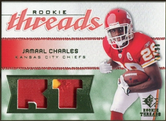 2008 Upper Deck SP Rookie Threads Rookie Threads Patch #RTJC Jamaal Charles /99