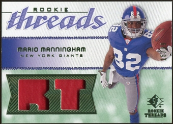 2008 Upper Deck SP Rookie Threads Rookie Threads Patch 99 #RTMM Mario Manningham /99