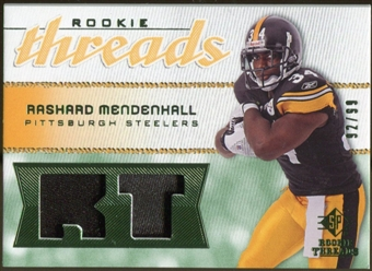 2008 Upper Deck SP Rookie Threads Rookie Threads Patch #RTRM Rashard Mendenhall /99