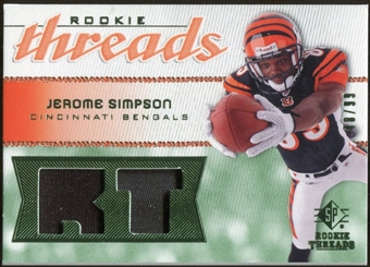 2008 Upper Deck SP Rookie Threads Rookie Threads Patch 99 #RTSI Jerome Simpson /99