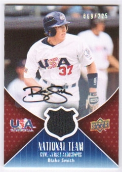 2009 Upper Deck USA National Team Jersey Autographs #BS Blake Smith Autograph /225