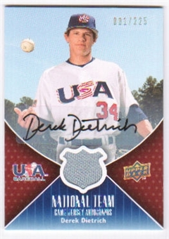 2009 Upper Deck USA National Team Jersey Autographs #DD Derek Dietrich Autograph /225