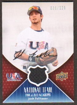 2009 Upper Deck USA National Team Jersey Autographs #JF Josh Fellhauer Autograph /225