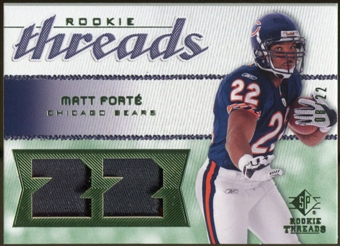2008 Upper Deck SP Rookie Threads Patch Jersey Number #RTFO Matt Forte /22
