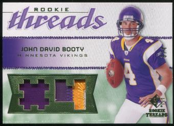 2008 Upper Deck SP Rookie Threads Rookie Threads Patch Jersey Number #RTJB John David Booty 3/4