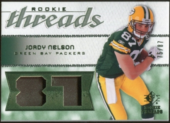 2008 Upper Deck SP Rookie Threads Patch Jersey Number #RTJN Jordy Nelson /87
