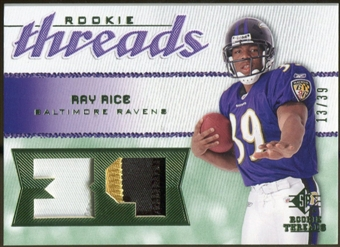 2008 Upper Deck SP Rookie Threads Patch Jersey Number #RTRR Ray Rice /39