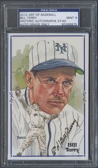2012 Historic Autograph Art of Baseball Bill Terry Auto #37/40 PSA DNA
