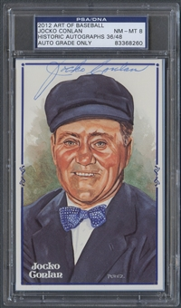 2012 Historic Autograph Art of Baseball Jocko Conlan Auto #36/48 PSA DNA