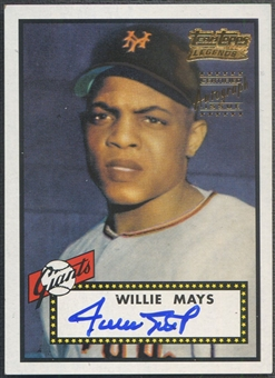 2001 Topps Team Topps Legends #TT1R Willie Mays Auto