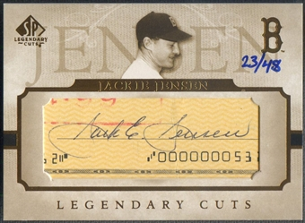 2005 SP Legendary Cuts #JJ Jackie Jensen Cut Auto #23/48