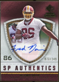 2008 Upper Deck SP Rookie Threads SP Authentics #SPFD Fred Davis Autograph /249