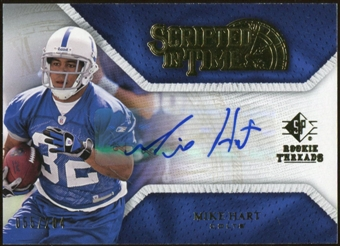 2008 Upper Deck SP Rookie Threads Scripted in Time #STMH Mike Hart Autograph /204