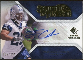 2008 Upper Deck SP Rookie Threads Scripted in Time #STTC Tashard Choice Autograph /255