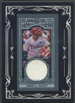 2013 Topps Gypsy Queen #RHO Ryan Howard Framed Mini Relics Jersey
