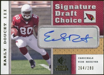 2008 Upper Deck SP Rookie Threads Signature Draft Choice #SDCED Early Doucet Autograph /280