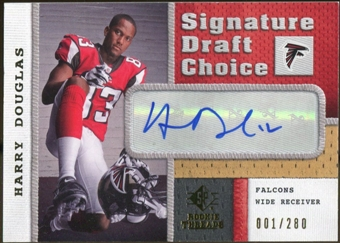 2008 Upper Deck SP Rookie Threads Signature Draft Choice #SDCHD Harry Douglas Autograph /280