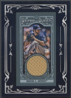 2013 Topps Gypsy Queen #SM Shaun Marcum Framed Mini Relics Jersey