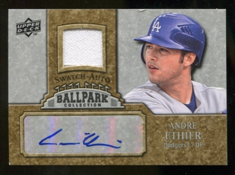 2009 Upper Deck Ballpark Collection Jersey Autographs #AE Andre Ethier Autograph