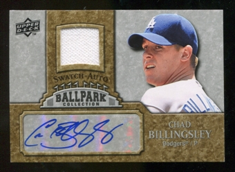 2009 Upper Deck Ballpark Collection Jersey Autographs #BI Chad Billingsley Autograph