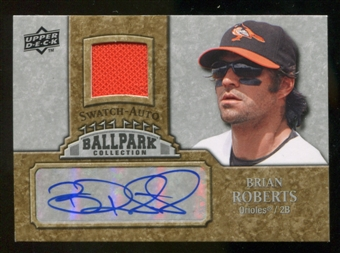 2009 Upper Deck Ballpark Collection Jersey Autographs #BR Brian Roberts Autograph