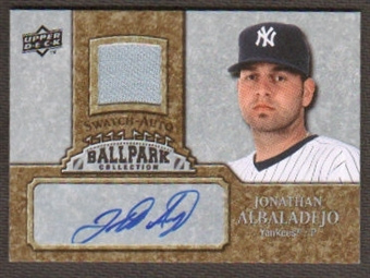 2009 Upper Deck Ballpark Collection Jersey Autographs #JA Jonathan Albaladejo Autograph