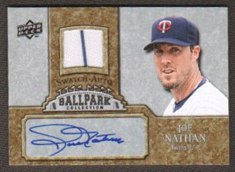 2009 Upper Deck Ballpark Collection Jersey Autographs #JN Joe Nathan Autograph