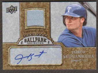 2009 Upper Deck Ballpark Collection Jersey Autographs #JS Jarrod Saltalamacchia Autograph