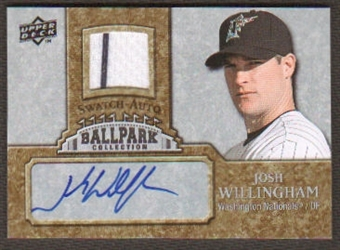 2009 Upper Deck Ballpark Collection Jersey Autographs #JW Josh Willingham Autograph