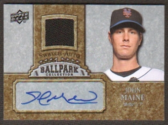 2009 Upper Deck Ballpark Collection Jersey Autographs #MA John Maine Autograph
