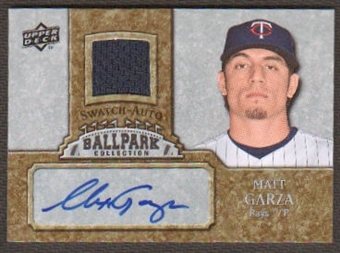 2009 Upper Deck Ballpark Collection Jersey Autographs #MG Matt Garza Autograph