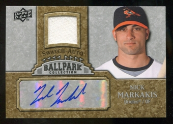 2009 Upper Deck Ballpark Collection Jersey Autographs #NM Nick Markakis Autograph