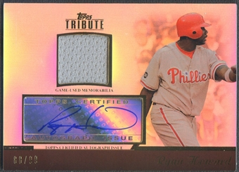 2011 Topps Tribute #RH1 Ryan Howard Jersey Auto #88/99