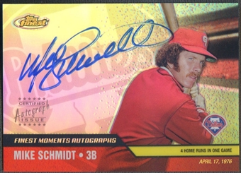 2002 Finest Moments #FMAMS Mike Schmidt Auto