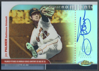 2003 Finest #JP Jim Palmer Finest Moments Refractor Auto