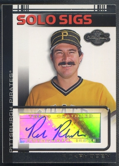 2007 Topps Co-Signers #RR Rick Rhoden Solo Sigs Auto
