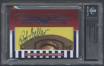 2010 Leaf Sports Icons Update Bob Feller Cut Auto #20/39