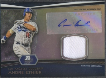 2012 Bowman Platinum #AE Andre Ethier Relic Jersey Auto