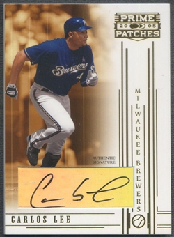 2005 Prime Patches #43 Carlos Lee Auto