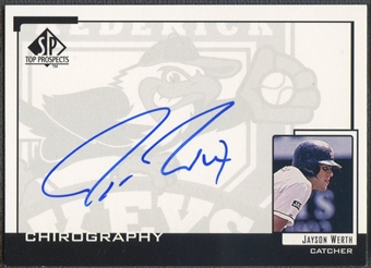 1999 SP Top Prospects #JW Jayson Werth Chirography Auto