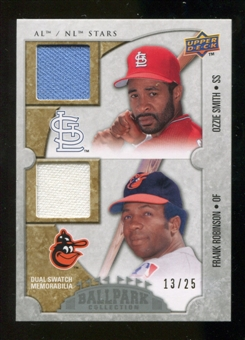 2009 Upper Deck Ballpark Collection #124 Ozzie Smith Frank Robinson /25