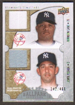 2009 Upper Deck Ballpark Collection #145 Jorge Posada Robinson Cano /400