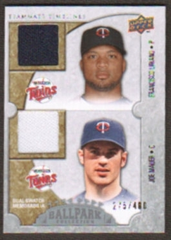 2009 Upper Deck Ballpark Collection #150 Francisco Liriano Joe Mauer /400
