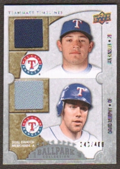 2009 Upper Deck Ballpark Collection #163 Ian Kinsler David Murphy /400