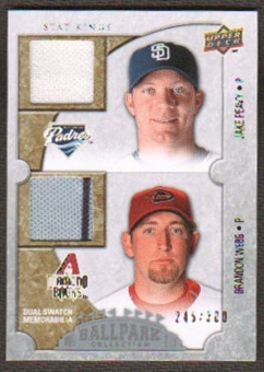 2009 Upper Deck Ballpark Collection #182 Brandon Webb Jake Peavy /300