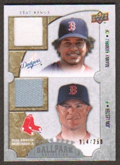 2009 Upper Deck Ballpark Collection #189 Jon Lester Manny Ramirez /250