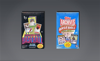 COMBO DEAL - Topps Archives Baseball Hobby Boxes (2013 Archives, 2012 Archives)